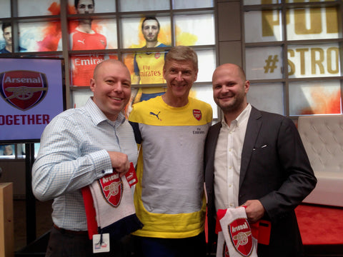 Brett and Kurtis with Arséne Wenger
