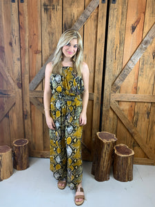 Yellow Snake Print 2 pc Set