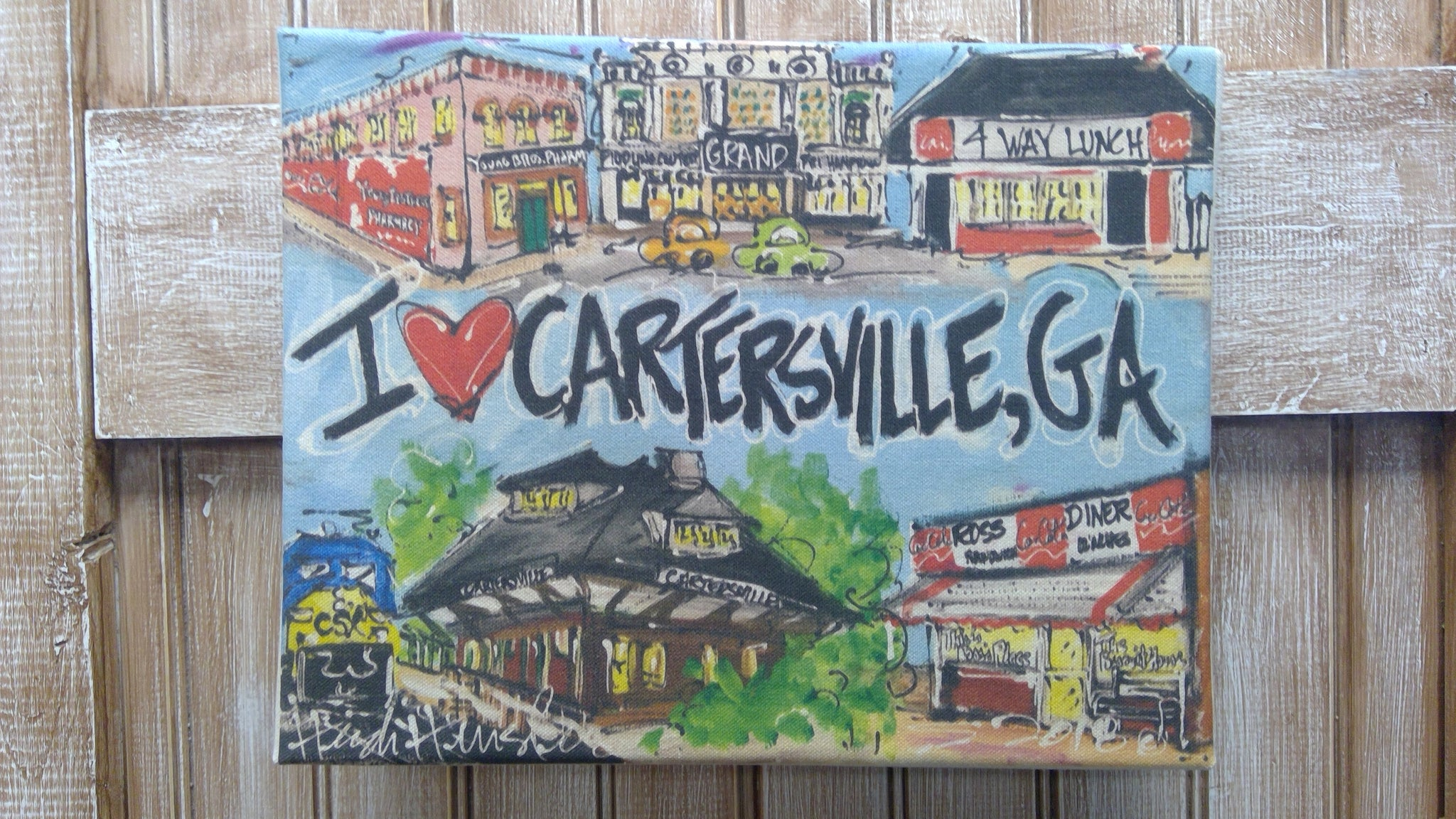 I Love Cartersville Canvas