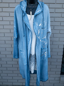 Lightweight Chambray Cardigan/Duster