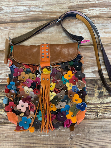 Leather Flower Purse