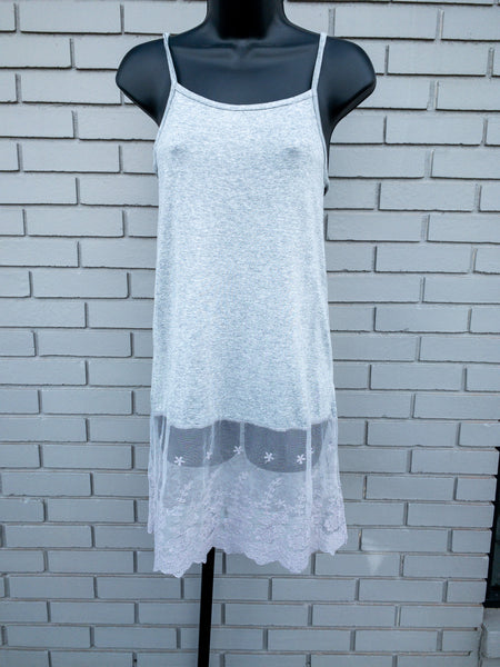 Grey layering dress tunic