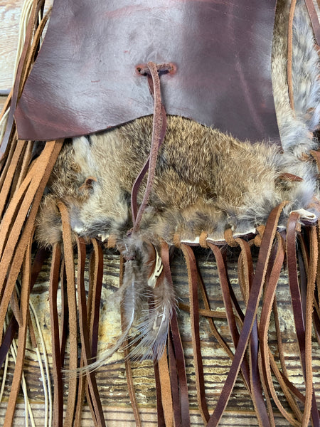 Rabbit Fur and Leather Purse