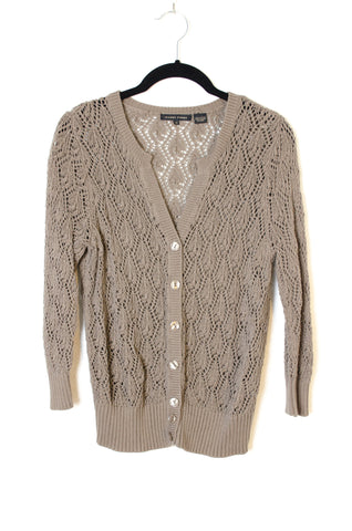 Cotton Lace Spring Cardigan  - Size M