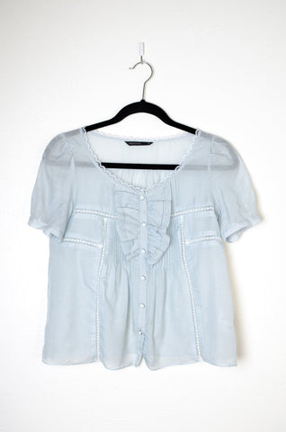 Mastina Ruffles and Lace Swing Blouse - Size S/M