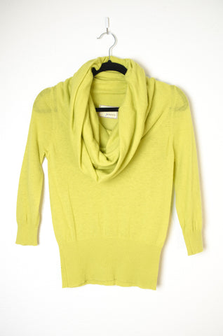 3/4 Sleeve Cowl Neck Pullover - Size S