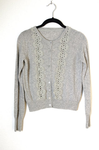 Lace Trim Cardigan - Size S