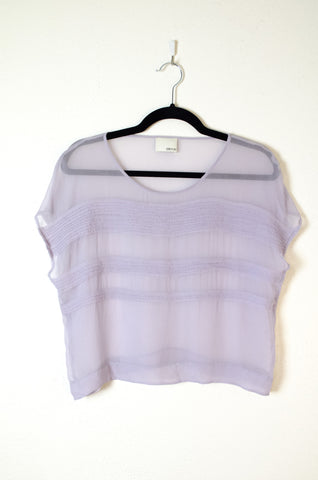 Greylin Cropped Sleeveless Boxed Blouse  - Size XS
