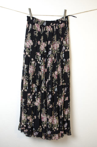 Floral Layered Prairie Skirt - Size S