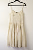 Theory Eyelet Lace and Pin Striped Pleated Sun Dress - Size 8
