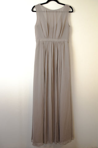 Jenny Yoo 'Vivienne' Pleated Chiffon Gown - Size 12