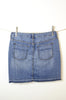 Eddie Bauer Denim Skirt with a Touch of Vintage Wear - Size 2