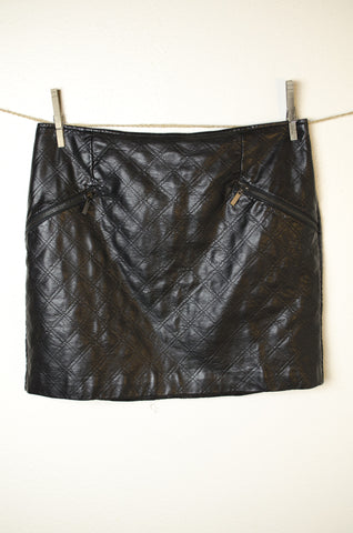 Mossimo Vegan Leather Mini Skirt - Size 12