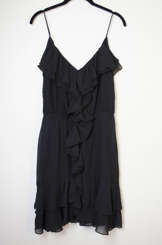 Black Ruffled Dress - Size 10