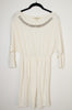 Jeweled Pullover Sweatshirt Dress - Size S/M