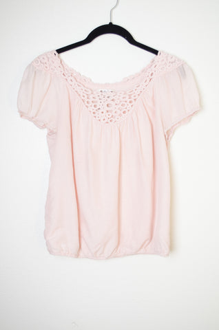 M.S.S.P Circle Lace Yolk Blouse - Size S
