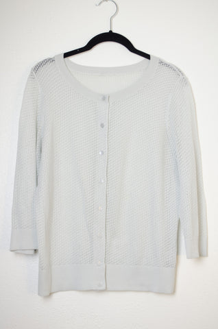 Micro Lace 3/4 Sleeve Cardigan - Size M