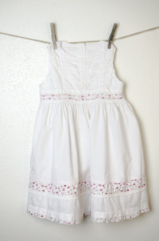 Spring Eyelet Cotton Sundress - Size 4Y
