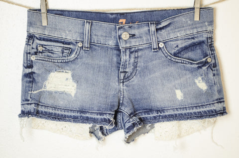 "7 For All Mankind Short Shorts - Size S (25"" Waist)"