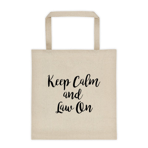 Keep Calm & Law On™ Tote Bag