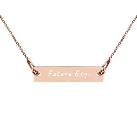 Future Esq. Silver Bar Chain Necklace (available in silver, gold and rose gold) only at LawesomeTees.com