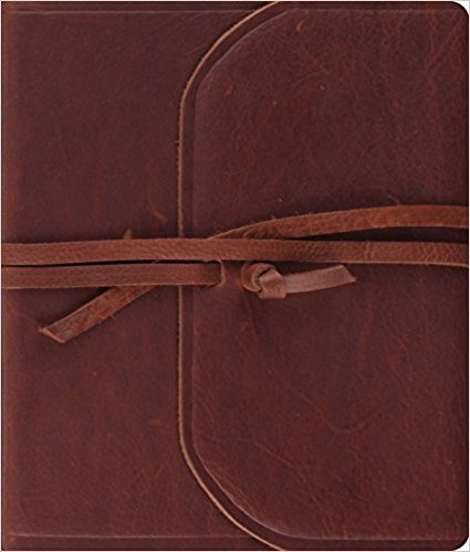 ESV Journaling Bible (Brown, Flap with Strap) Leather Bound