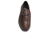 Designer Mario Samello men's brown leather loafers style # 13137-4