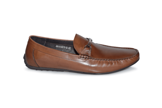 Designer Mario Samelllo Men's brown leather loafers  style #13221