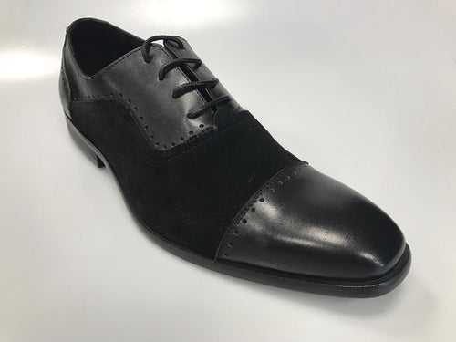Mario Samello men's black oxford cap toe shoes 1755-W8