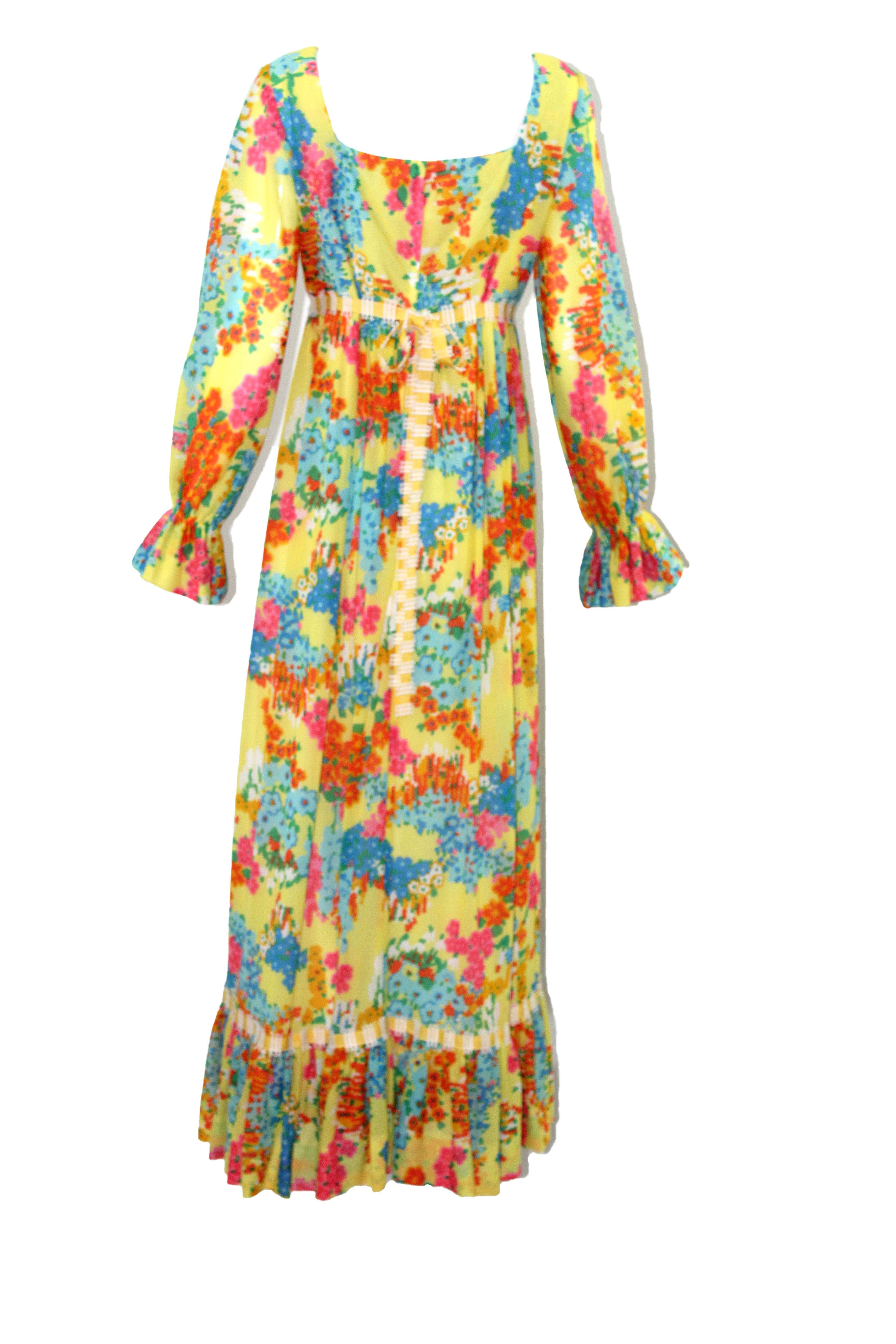 9a474cec1 RARE Lilly Pulitzer Vintage Colorful Boho Maxi Dress Size 12 - The ...
