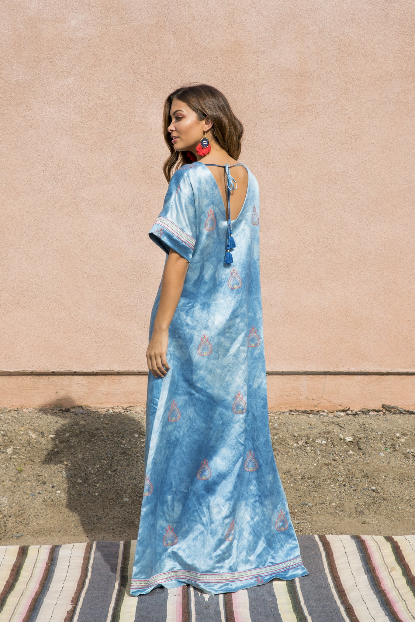 blue maxi dress milo+nicki