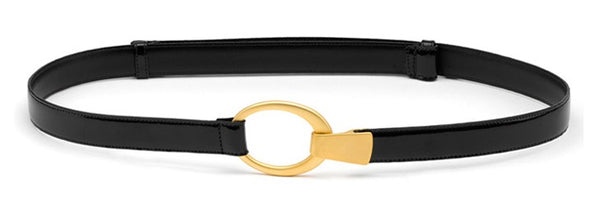 Paula Ryan Hook and Oval Belt in gold