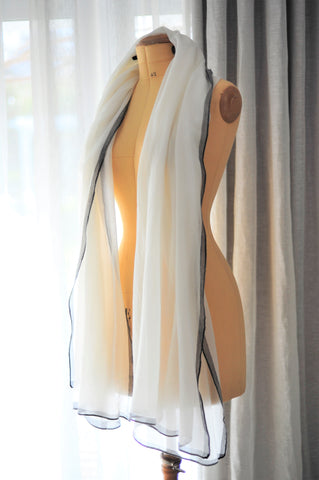 Luxury Cashmere Co cream 100% cashmere scarf, $235.