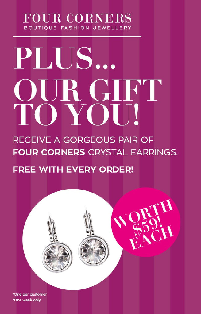 Receive a free pair of Four Corners Earrings!
