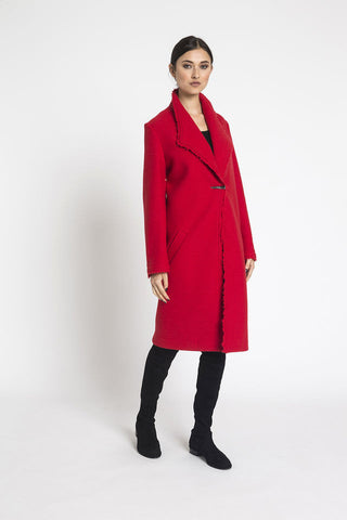 Jane Daniels Red Wool Palace Coat