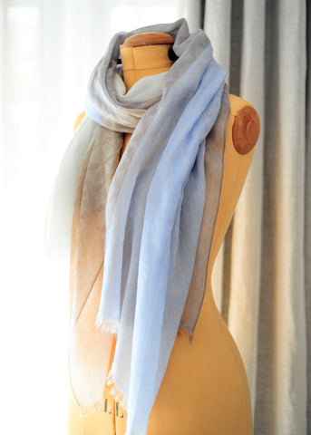 Luxury Cshmer Co cashmere blue medley scarf