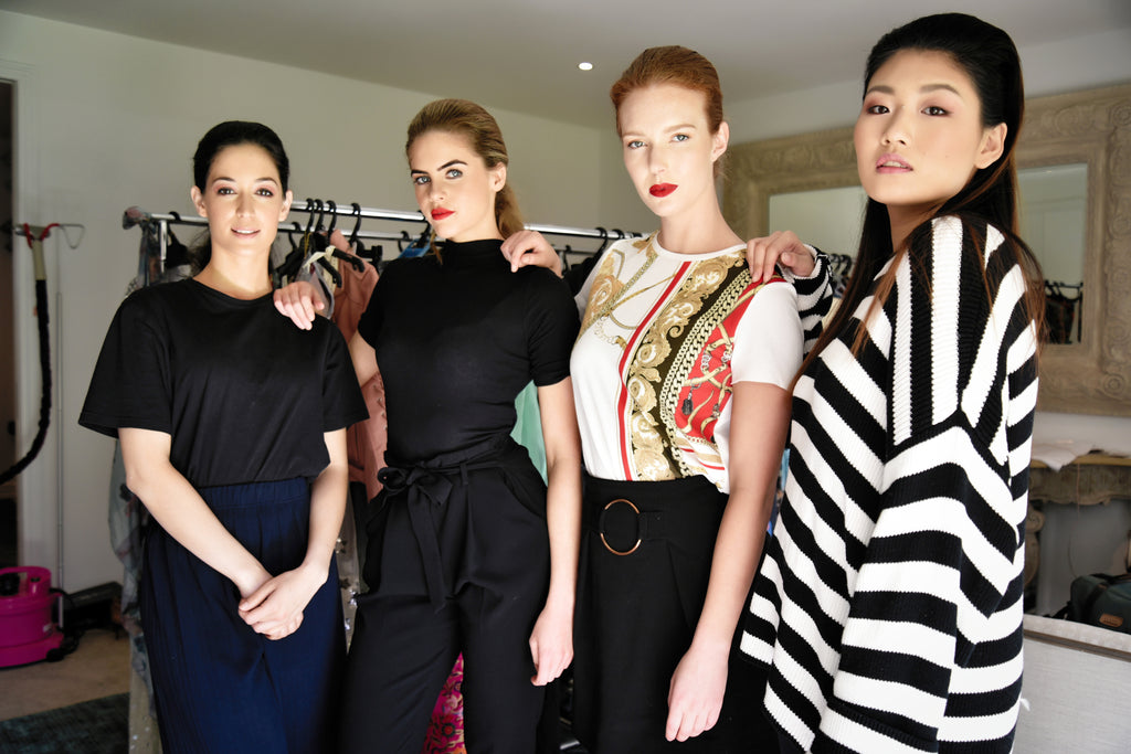 Portfolio models at the Trelise Cooper show