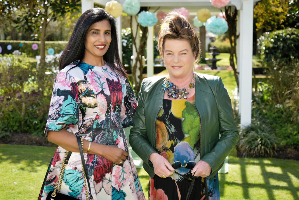 Nancy Peters and Jane Hickman at the Magpie Style Trelise Cooper Garden Party
