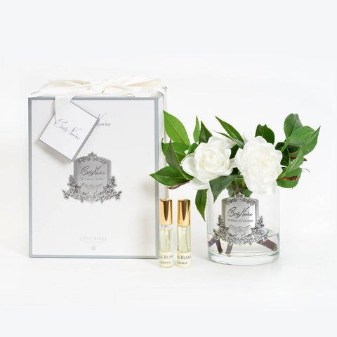 COTE NOIRE Signature Collection Perfumed Gardenias -  Clear Glass - Magpie Style