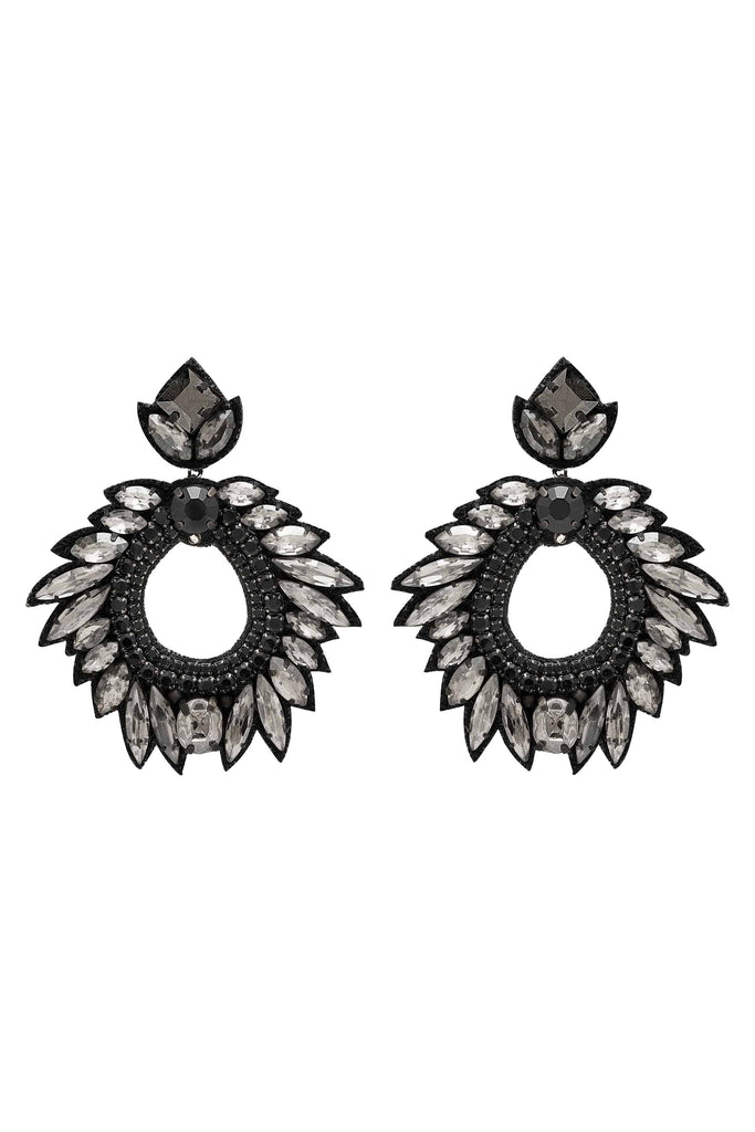DEEPA GURNANI Chantel Earrings - Black - Deepa Gurnani - [product type] - Magpie Style