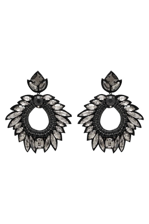 DEEPA GURNANI Chantel Earrings - Black - Magpie Style
