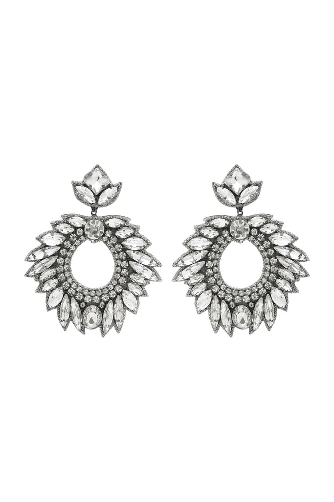 DEEPA GURNANI Chantel Earrings - Silver - Magpie Style