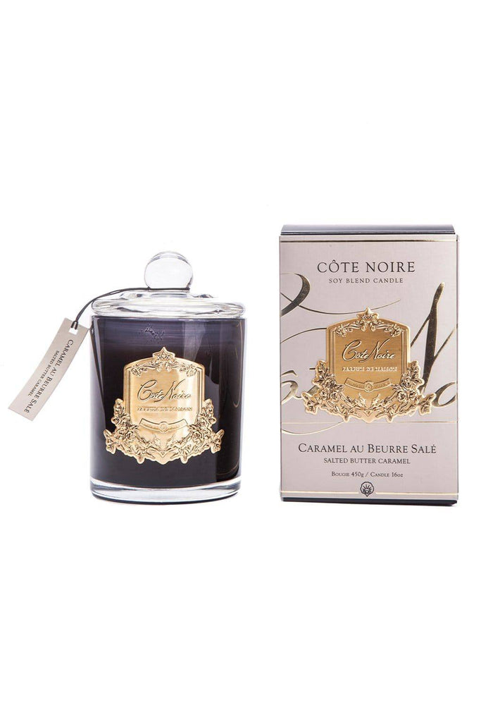 COTE NOIRE Salted Caramel Candle - Gold 450g - Magpie Style