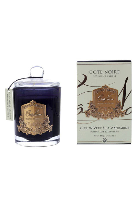 COTE NOIRE Persian Lime & Tangerine Candle - Gold 450g - Magpie Style