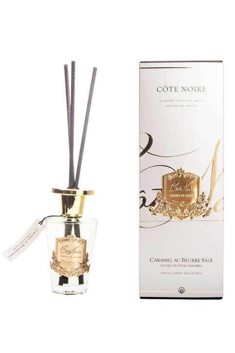 COTE NOIRE Salted Caramel - 150ml Gold Diffuser Set - Magpie Style