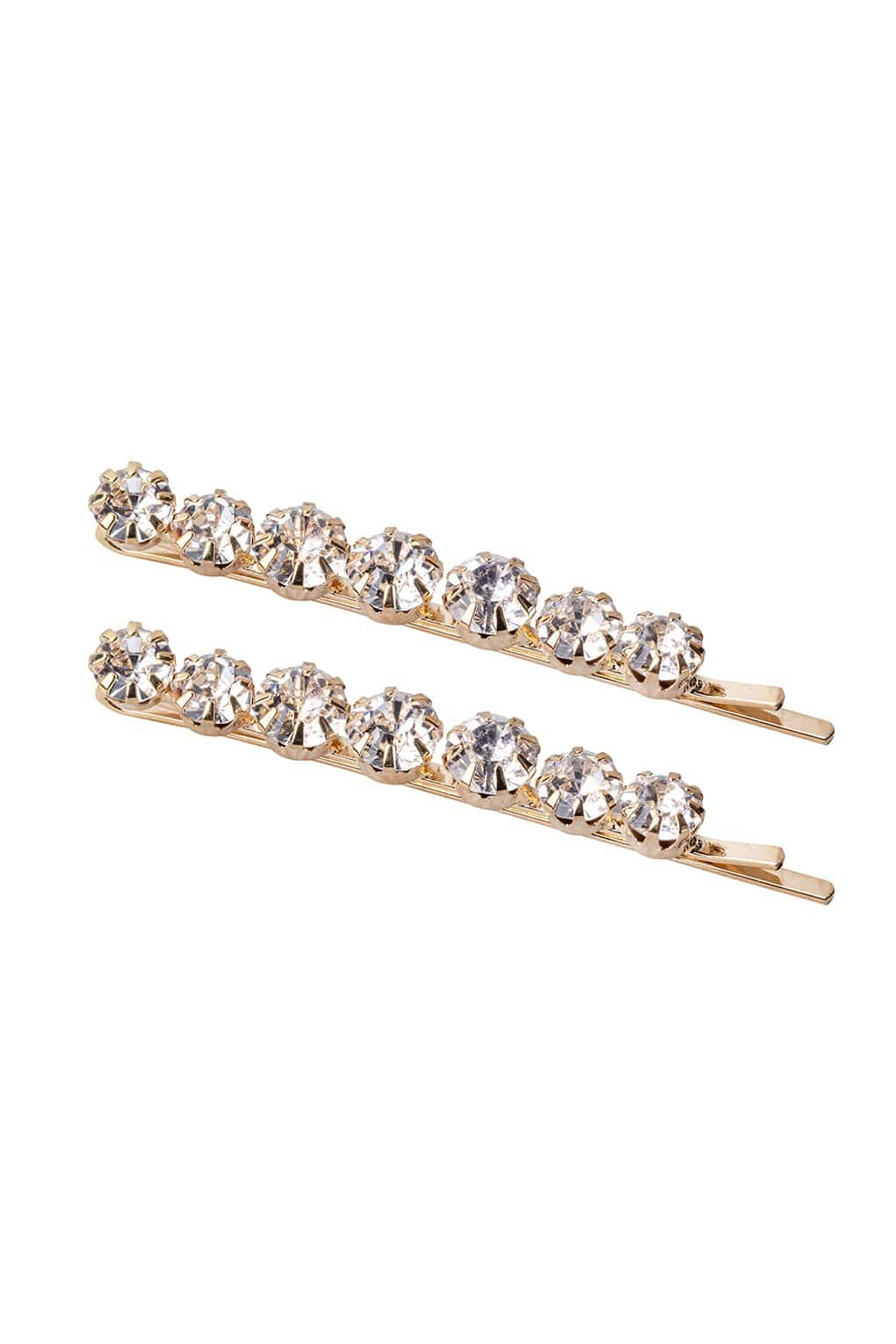 FOUR CORNERS Marilyn Hairclip - Gold - Set of Two - Magpie Style