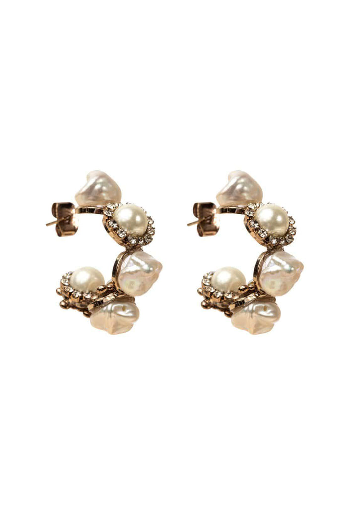 FOUR CORNERS Stockholm Earrings - Pearl - Magpie Style