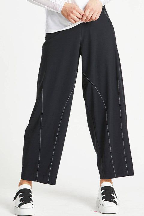 PAULA RYAN Topstitched Balloon Pant - Microjersey - Magpie Style