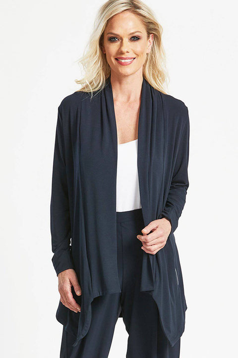 PAULA RYAN Soft Zip Jacket - MicroModal - Magpie Style