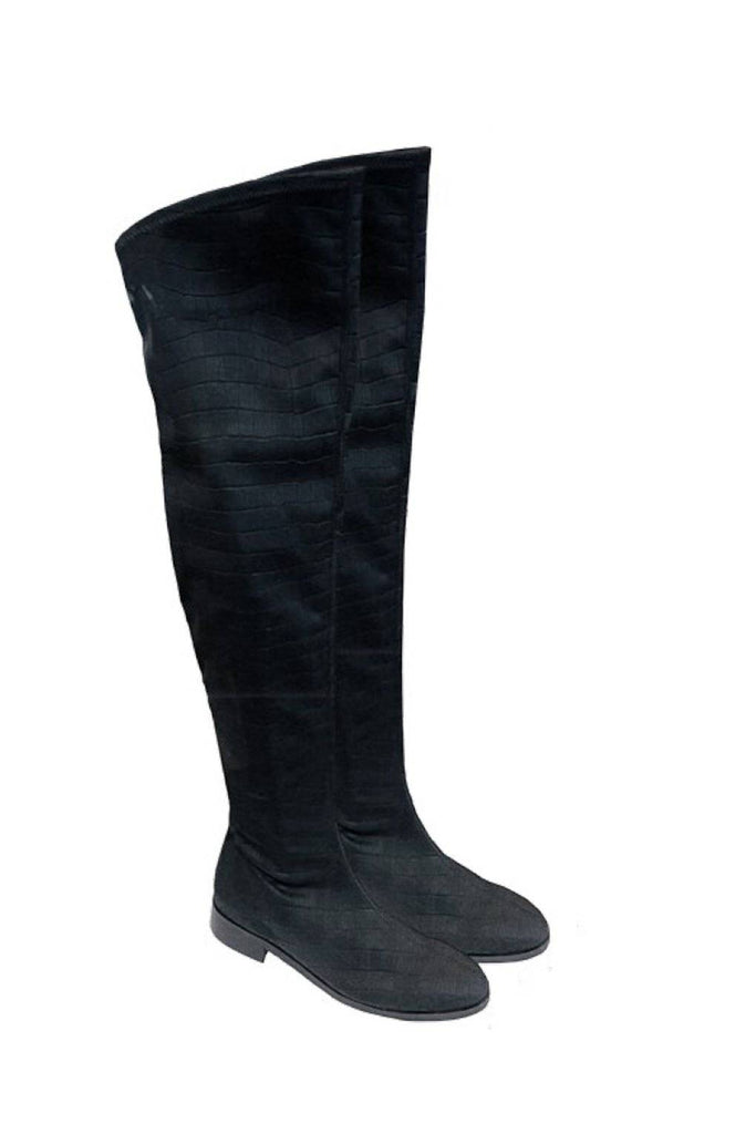 PAULA RYAN Over The Knee Stretch Boot - Magpie Style